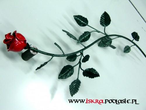 Metalowa róża R-8