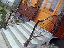 Ozdobna metalowa balustrada