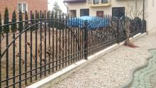 Ogrodzenie ze stali fakturowanej