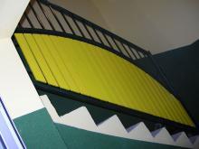 Metalowo - drewniana balustrada schodowa