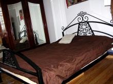 Ozdobne, metalowe, ręcznie kute łoże