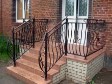 Metalowa balustrada schodowa