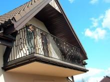 Ozdobna kuta balustrada balkonowa