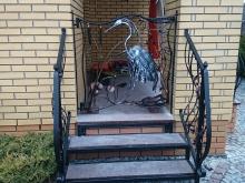 Balustrada ozdobna z żurawiem