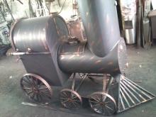 Grill w kształcie pociągu