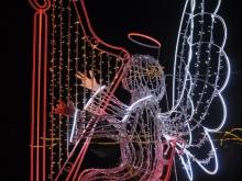 Metalowa ozdoba świąteczna - iskra