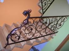 Ozdobna balustrada wewnętrzna