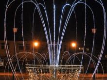 Metalowa fontanna - Świąteczna ozdoba